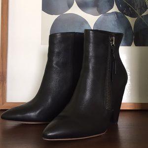 """Splendid Leather Bootie- 4.5"""" Block Heel"""